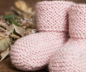 Bilde av Rille babytøfler alpakka lyserosa