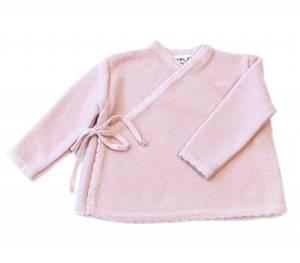 Bilde av Newborn omslagsjakke i ull blekrosa