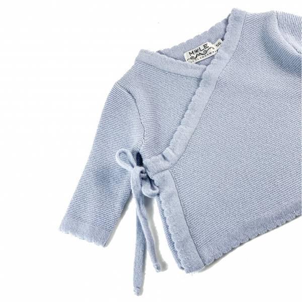 Kashmir Newborn omslagsjakke lyseblå