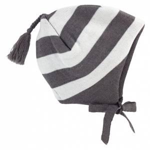 Bilde av Stripe ull lue mørk brun