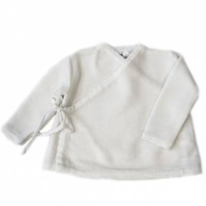 Bilde av Newborn omslagsjakke i ull hvit