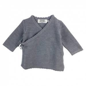 Bilde av Newborn omslagsjakke i ull lysegrå